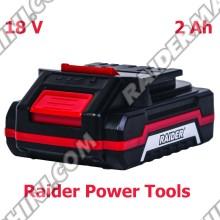 Батерия за акумулаторни машини 18V, 2Ah, Li-ion Raider