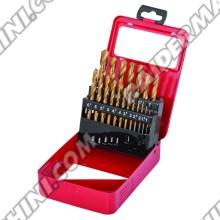 Свредла за метал к-т 19бр., ф1.0-10мм., HSS + TIN RAIDER 157108