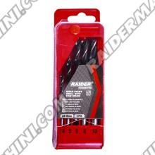 Свредла за дърво 5 броя комплект 4-10мм, RAIDER 157114