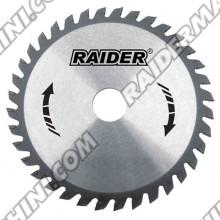 Диск за циркуляр за дърво, 185x60Tx20 мм, RAIDER 163132
