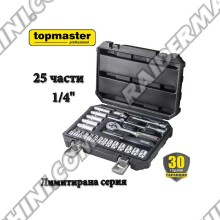 "Комплект инструменти 25 части 1/4"", Topmaster 339106P Limited Edition"